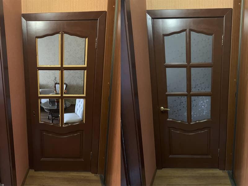Фото замена стекла в межкомнатной двери